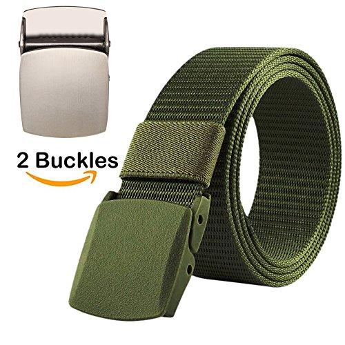 BEKILOLE Nylon Canvas Breathable Military Tactical Men Waist Belt With Plastic Buckle...
