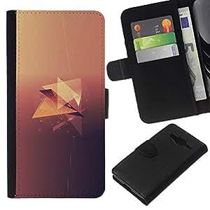Minimalista Diamond - la tarjeta de Crédito Slots PU Funda de cuero Monedero caso cubierta de piel Para Samsung Galaxy Core Prime