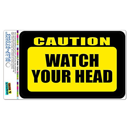 Caution SLAP STICKZ Premium Laminated Sticker