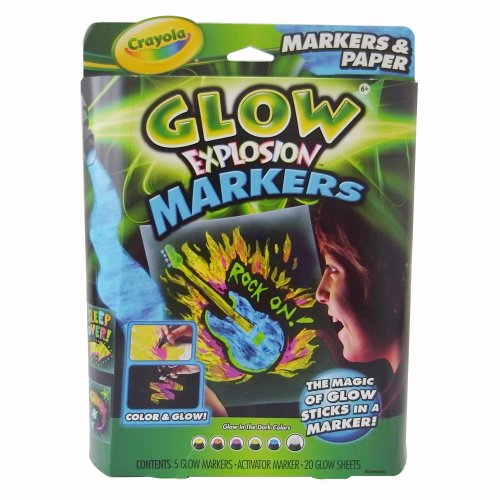 Crayola Glow Explosion Markers Paper