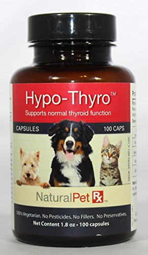 Natural Pet RX Hypo-Thyro Endocrine, Hormonal & Enzyme System Support (100 Capsules)