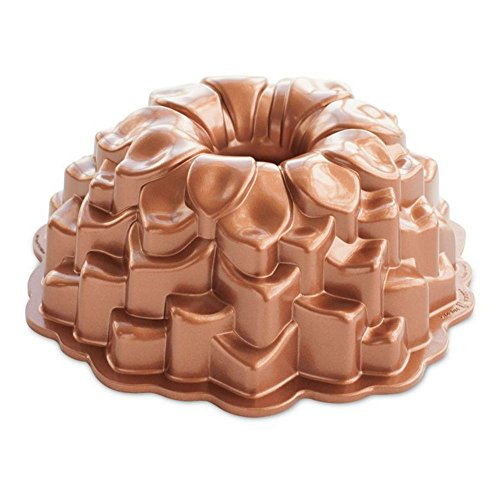 - Nordic Ware 87537 Blossom Bundt Cake Pan, One Size, Metallic