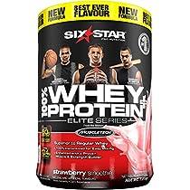 Six Star Elite Series 100% Whey Protein Plus Strawberry Smoothie 4lbs (1.81kg) CA