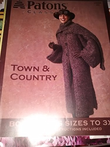 PATONS CLASSICS - TOWN & COUNTRY - BONUS PLUS SIZES TO 3X (KNITTING PATTERNS) #500998 -