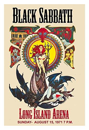 Concert Posters 12 x 18 Black Sabbath Long Island ()