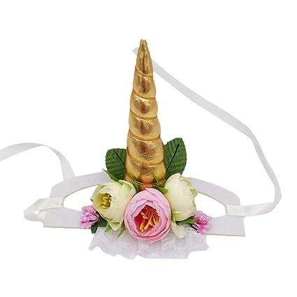 Todaytop Pet Unicorn Headband Halloween Pet Unicorn Shape Decorative Hat  Party Supplies Cat Dog Pet Headwear 0492b89970e