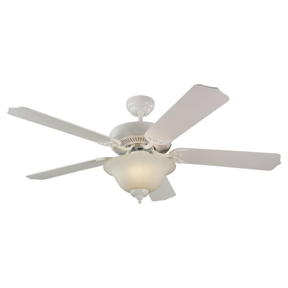 Sea Gull 15030BLE-15 Lighting 52-Inch Quality Max Plus Ceiling Fan with Light Kit, White, 1-Pack by Sea Gull B00332LFQ0 White with White Blades White with White Blades