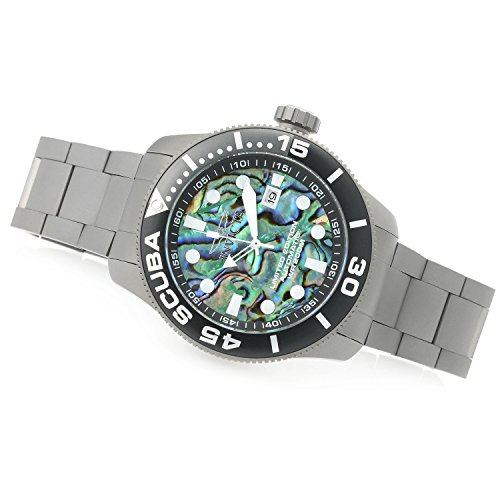 New Womens Invicta 22085 TI-22 Scuba Diver Automatic Abalone Dial Bracelet Watch
