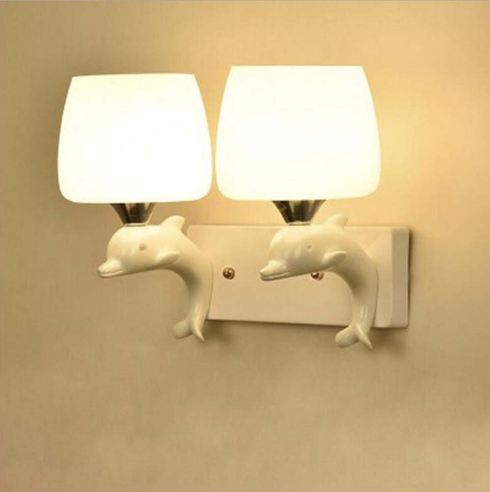 GAOLIQIN LED Wall Lamp Modern Bedroom Bedside Lamp Continental Wall Stair LED Backdrop The Hotel Lobby Wall Lamp
