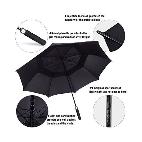 ACEIken-Golf-Umbrella-Windproof-Large-62-Inch-Double-Canopy-Vented-Automatic-Open-Extra-Large-OversizedSun-Protection-Ultra-Rain-Wind-Resistant-Stick-Umbrellas