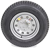 16'' x 6'' Silver Modular Trailer Wheel with radial RoadGuider ST23580R16E Tire Mounted (6-5.5'' bolt circle)