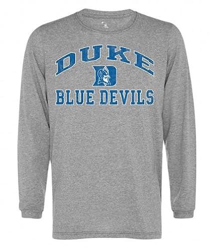 4a8da8b0 Amazon.com : Duke Blue Devils Old School Grey Vintage Tri-Blend Long Sleeve  T-Shirt : Athletic T Shirts : Sports & Outdoors
