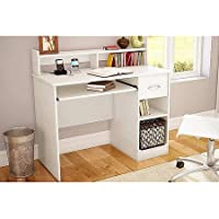 South Shore Smart Basics Small Desk, Multiple Finishes (White)