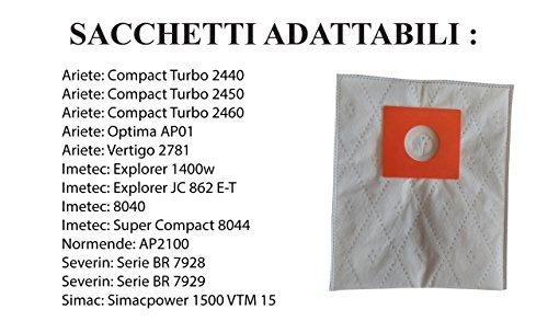 Acquisto A307MF SACCHI ASPIRAPOLVERE ARIETE IMETEC EXPLORER COMPACT OPTIMA VERTIGO 2781 Prezzo offerta