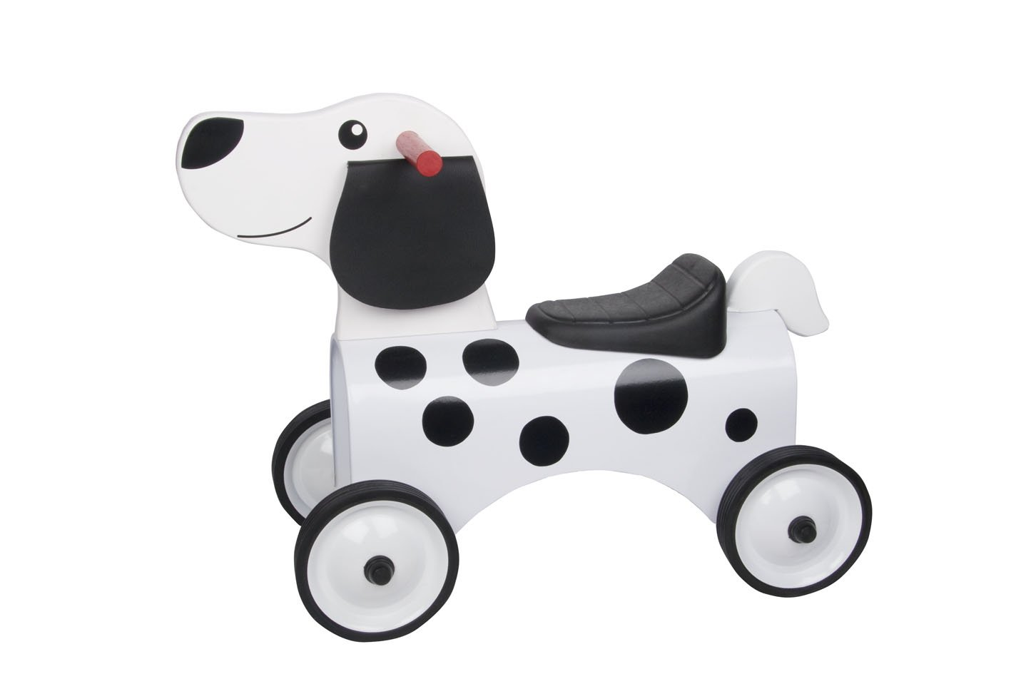 Great Gizmos 8305 Dalmatian Ride On Dog Outdoor_and_Sports_Toys Ride Ons Solid wooden head and tail durable tyres
