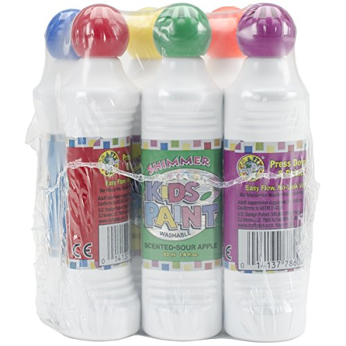 Crafty Dab Kid's Scented Shimmer Paint Markers, 1.4-Ounce, 6-Pack, Assorted Scents and Colors ()