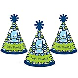 Big Dot of Happiness Boy Puppy Dog - Mini Cone Baby Shower or Birthday Party Hats - Small Little Party Hats - Set of 10