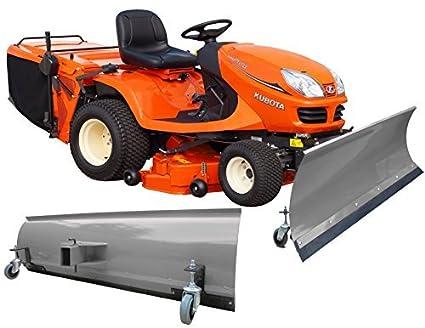 BEBV – Hoja quitanieves universal con ruedas 100 x 40 cm gris Tractores Cortacésped, quads
