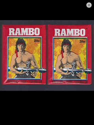 Rambo 1985 Lot (2) Wax Packs Topps Trading Cards Stickers Non-sport Retro from Topps