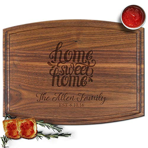 Froolu Home Sweet Home engraved cheese board for Realtors & Real Estate Agents Closing Gifts Gifts ()