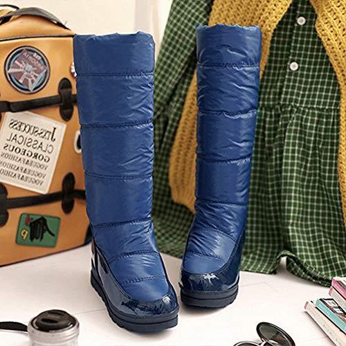 Invernali Con 34 blu stivali Ig Anti sci Cavaliere stivali Stivali Donna Caldi 40 37 Da Rialzo x6wwYqf784