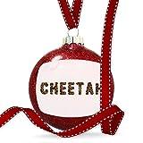 Christmas Decoration Cheetah Cheetah Cat Animal Print Ornament