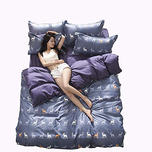 MMTC 4 Sets of Cotton, Simple Style, Including Duvet Cover, 1 Sheet and 2 Pillowcases, 150200cm, 180220cm, 200230cm, Cotton,3,M