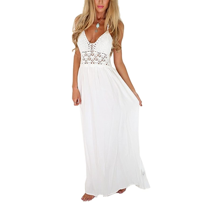 Kidslove Sommerkleid damen elegant damen strandkleid ...