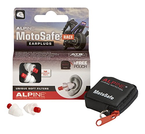 Alpine Hearing Protection Earplugs Motosafe, Race