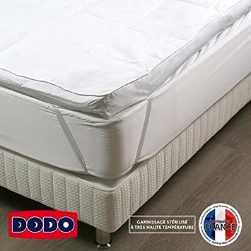 DODO MORZINE Surmatelas surconfort 140 x 190 cm - 90% plumettes et ...