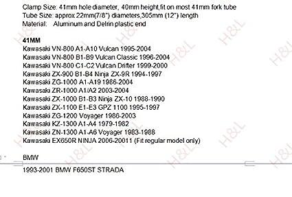 R1 R6 Universale Forcella /Ø 50MM Semimanubri cafe Racer Inclinazione 8/° /Ø 22MM tubo Colore Nero CNC SEMIMANUBRI Moto Semimanubri 50mm per RS250//ZX6R 03-2008//ZX636//ZX10R 04-2010 //GSX-R600//750//1000