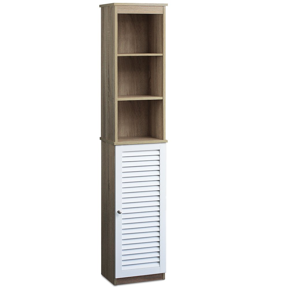 Bathroom Cabinet With 6 Shelves And Door Tall Free Standing Cupboard  Storage Room: Amazon: Kitchen & Home