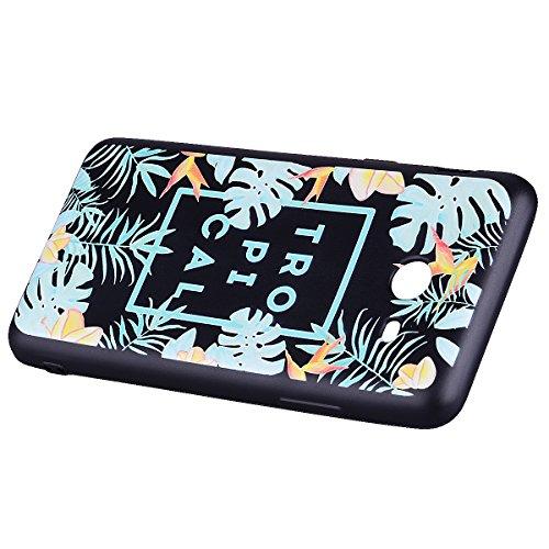 Funda Samsung Galaxy J5 2017(Versión US), EUWLY Negro Silicona Fundas para Samsung Galaxy J5 2017 Goma Gel Suave TPU Cárcasa Caso con Pintura Dibujos Impresión En Relieve Patrón Bumper Case Cover Ultr Hojas tropicales