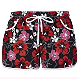 Women's Causal Board Shorts Tankini Swim Briefs Bottom Sports Beachrider M Red