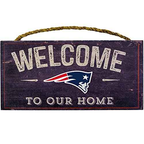 Fan Creations Welcome New England Patriots Distressed 6 x 12, 6