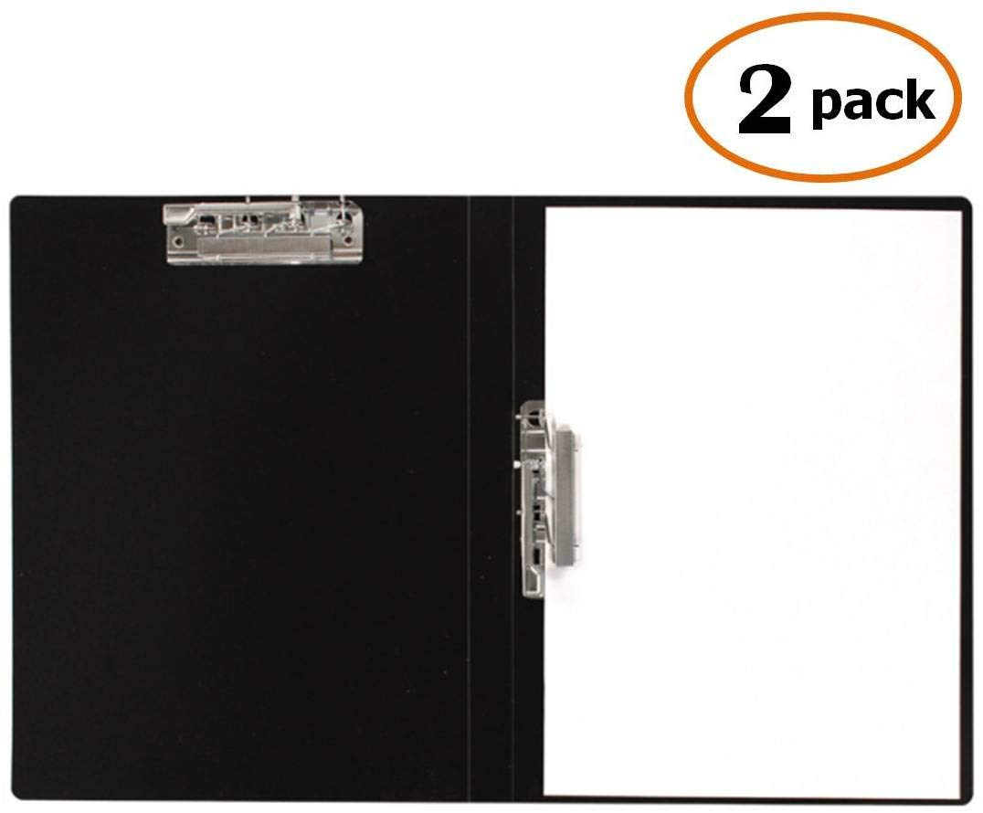 100 Sheet Capacity Punchless Binder Gray for Letter Size or A4 Size Commercial or School Documents File Folder Single Strong Clips File Folder Office Project Folder