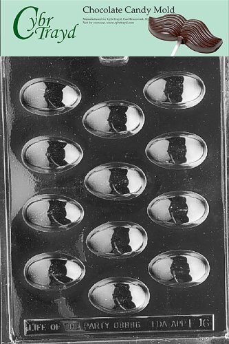 Cybrtrayd Life of the Party E016 Eggs Easter Chocolate Candy Mold in Sealed Protective Poly Bag Imprinted with Copyrighted Cybrtrayd Molding Instructions, Medium/Large