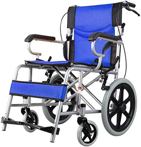 WZB - Wheelchair Rollstuhl, Rollstuhl Zugänglich für Behinderte, Rollstuhl aus Aluminiumlegierung, Einfach in Den Kofferraum des Autos zu Passen