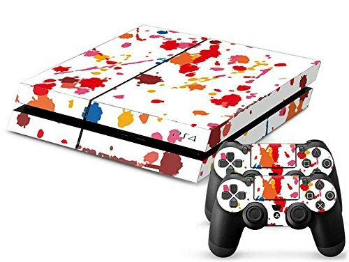 MODFREAKZTM Console and Controller Vinyl Skin Set - Shades Red Paintball for Playstation -