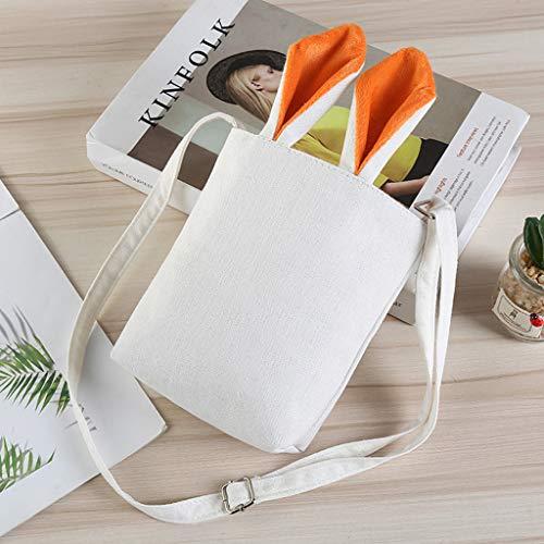 Orange Toile D'oreille Sac Wanfor D'emballage Lapin De D'épaule pourpre Pâques Sacs 6axwvP1q