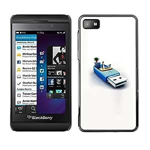 PC/Aluminum Funda Carcasa protectora para Blackberry Z10 usb memory penguin pc computer system / JUSTGO PHONE PROTECTOR