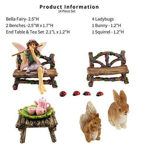 Pretmanns Fairy Garden Fairy Accessories – Miniature Fairy Figurine & Furniture – 14 Piece Starter Kit by Pretmanns (Image #2)