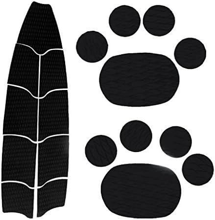 SONONIA 9個 ブラック EVA デッキ SUP パドルボード トラクションパッド ドッググリップ マット