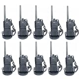 RADTEL T18 Two Way Radio UHF 400-470MHz FM Handheld Walkie Talkie with Voice Annunciation & Scrambler , Loud and Clear Voice (10 Pack)