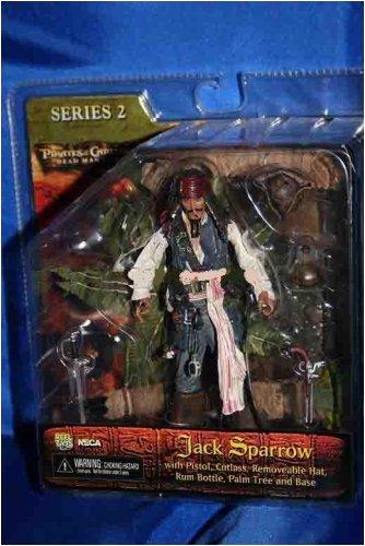 (NECA Pirates of the Caribbean Dead Man's Chest Series 2 Captain Jack Sparrow Action Figure)