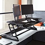 VARIDESK - Height-Adjustable Standing Desk for Cubicles - Cube Plus 48 - Black