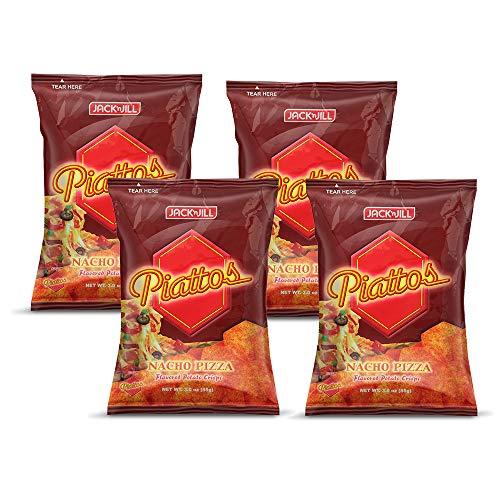 Jack'n Jill Piattos Flavored Potato Crisps 3 Oz (Pack of 4) (Nacho Pizza)