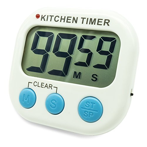 Timer Button - Digital Kitchen Countdown Timer, Silent Flashing/Beeping Mini Portable Button Lcd Timer with Stand and Magnetic Back for Kids, Teachers, Classroom, Cooking, Chef, Homework, Spa, Learning, Office.