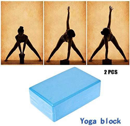2ピースヨガブロック、高密度エヴァフォームヨガレンガ、ボディシェーピングストレッチトレーニング、ヨガ、ピラティス、瞑想用