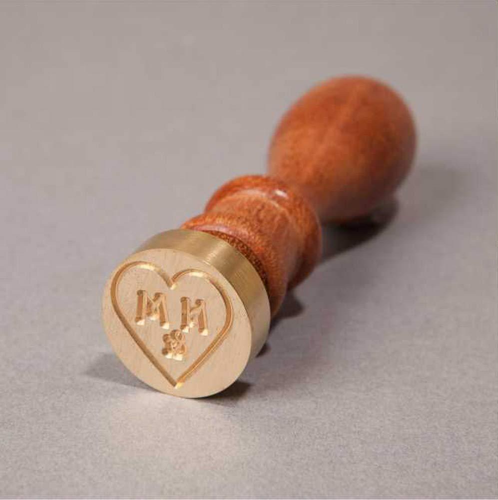 Personalisiertes Siegelstempel, Siegelstempel, Siegelstempel, 2 Initialen  &, Loveheart   Design 20 (38mm) B07MYHQ6FD | Hervorragende Eigenschaften  0615ff